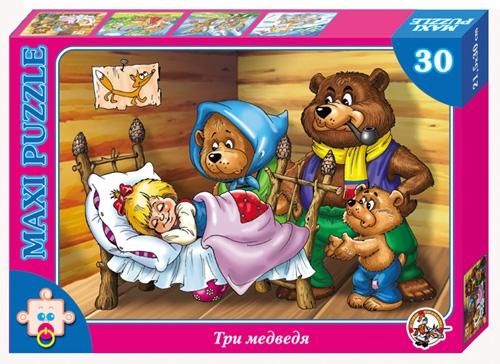 Пазл макси «Три медведя», 30 элементовПазлы для малышей<br>Пазл макси «Три медведя», 30 элементов<br>