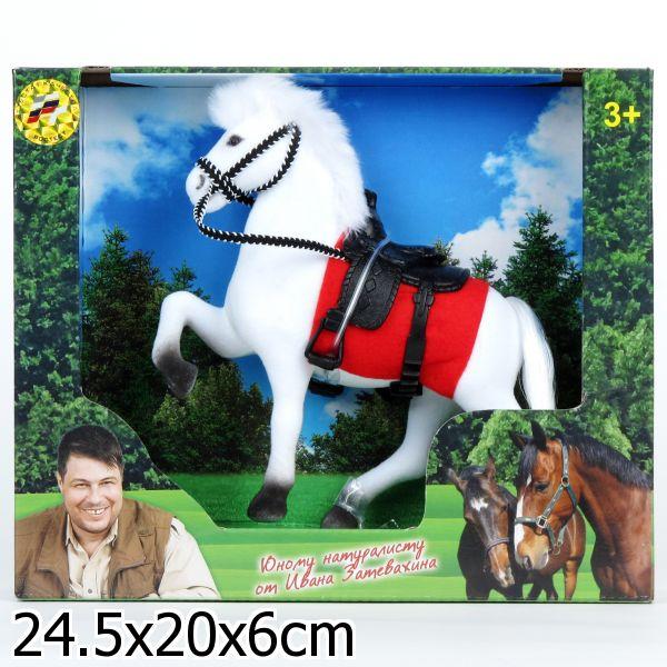 Фигурка лошади с флокированным покрытием, 19 см.Лошади (Horse)<br>Фигурка лошади с флокированным покрытием, 19 см.<br>