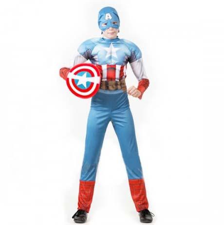 Купить Карнавальный костюм Мстители – Капитан Америка, размер 32, Батик