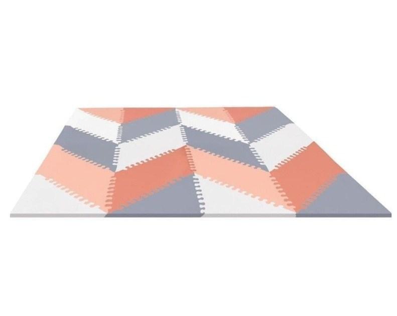 Напольный коврик – Гео, серый/персикКоврики-пазлы<br>Напольный коврик – Гео, серый/персик<br>