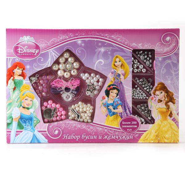 Набор бусин и жемчужин - Disney Принцессы, более 200 деталейТворчество<br>Набор бусин и жемчужин - Disney Принцессы, более 200 деталей<br>