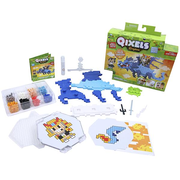Купить Набор для творчества Qixels - Королевство. Гнев дракона, MOOSE ENTERPRISE