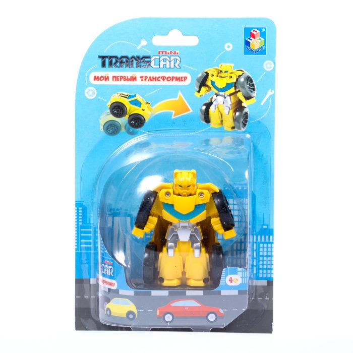 Мой первый трансформер - Робот – спорткар, 6 см, желтый