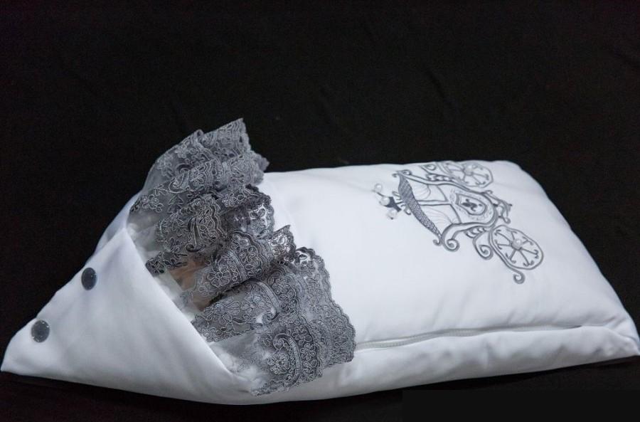 Комплект на выписку – Королевский, весна - Л 4052, бело-серыйКомплекты на выписку<br>Комплект на выписку – Королевский, весна - Л 4052, бело-серый<br>