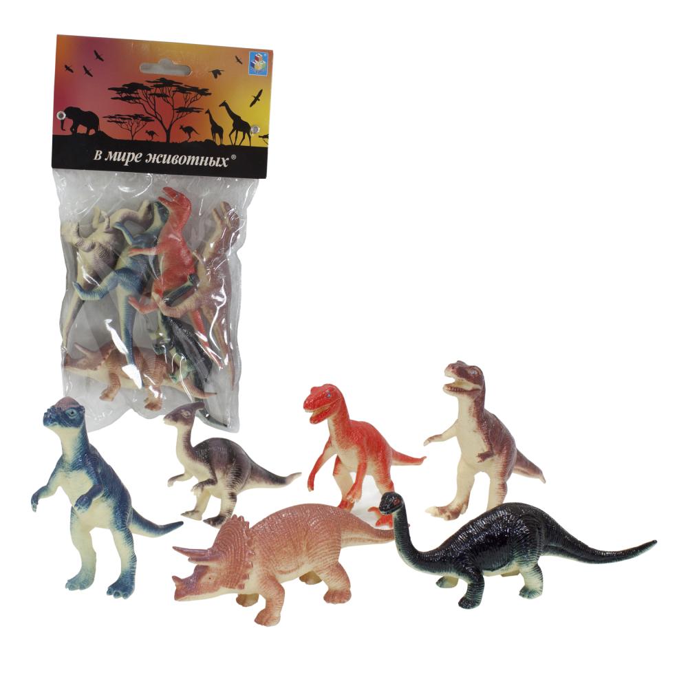 Игровой набор фигурок динозавров - В мире животных, 6 фигурок фото