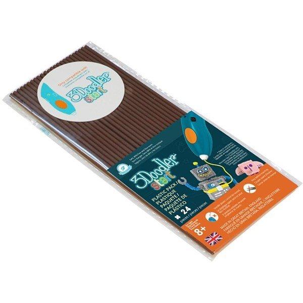 Эко-пластик к 3Д ручке 3Doodler Start, цвет коричневый, 24 штуки фото