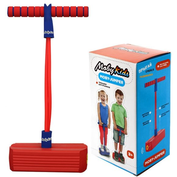 Купить Тренажер для прыжков со звуком MobyJumper, красный, Moby Kids