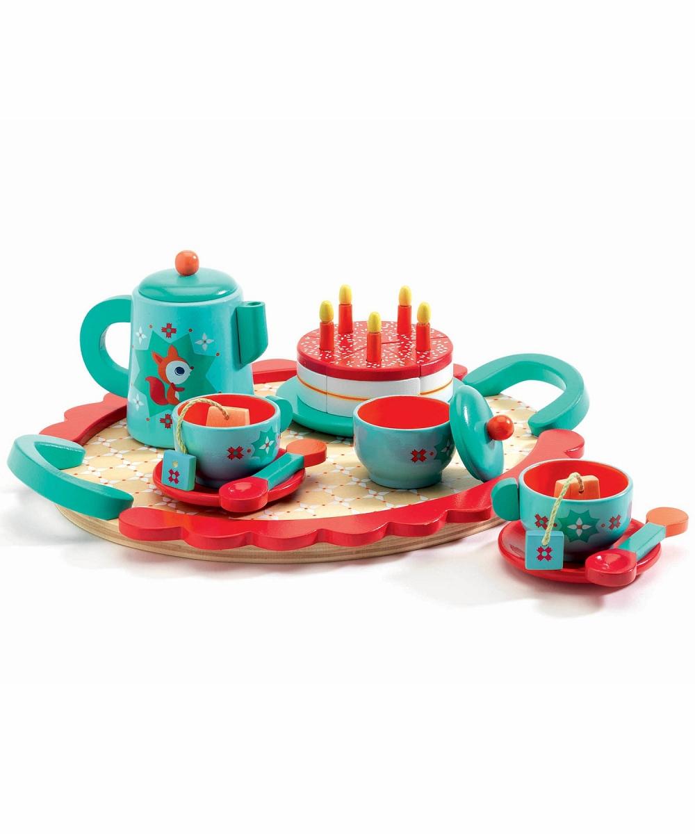 Игровой набор деревянный - Чаепитие у ЛисичкиАксессуары и техника для детской кухни<br>Игровой набор деревянный - Чаепитие у Лисички<br>