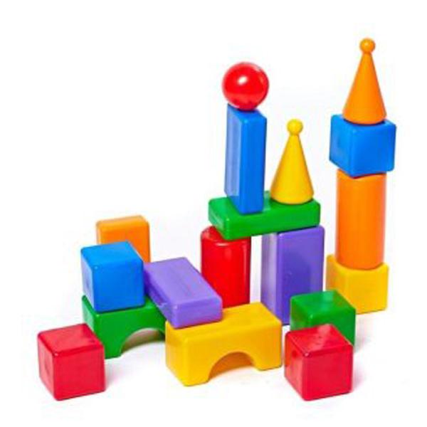 Купить Строительный набор - Стена-2, 18 элементов, Пластмасса-Детство