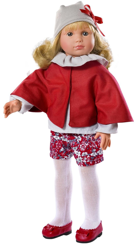 Кукла Нелли в красной накидке, 43 см.Куклы ASI (Испания)<br>Кукла Нелли в красной накидке, 43 см.<br>
