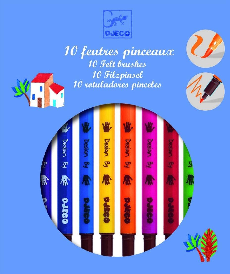 Фломастеры двухсторонние, классические цветаФломастеры<br>Фломастеры двухсторонние, классические цвета<br>