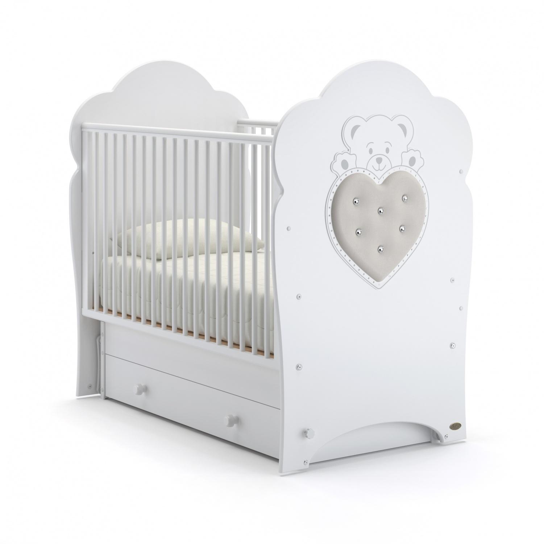 Купить Детская кровать Nuovita Fortuna swing поперечный, цвет - Bianco/Белый