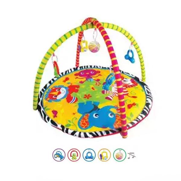 Детский игровой коврик с погремушками на подвескеДетские развивающие коврики для новорожденных<br>Детский игровой коврик с погремушками на подвеске<br>