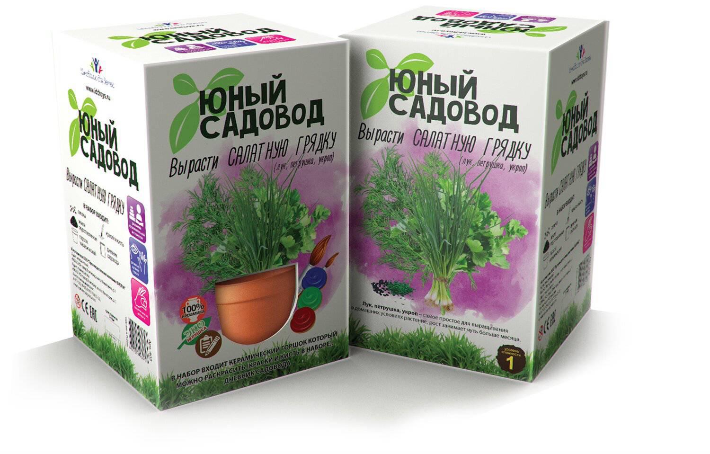 Набор для экспериментов - Юный садовод - Вырасти салатную грядкуНаборы для выращивания растений<br>Набор для экспериментов - Юный садовод - Вырасти салатную грядку<br>