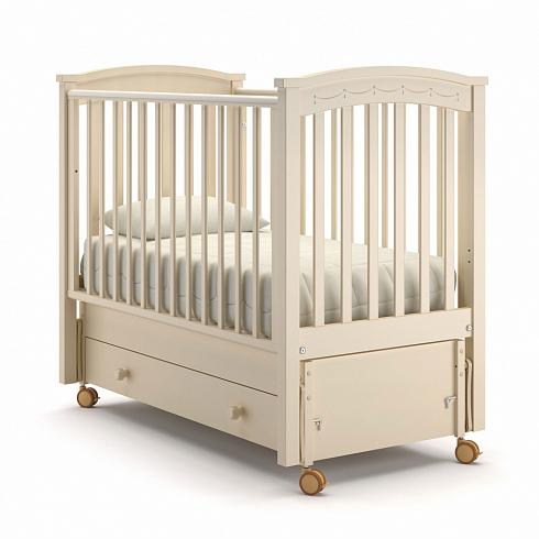 Купить Детская кровать - Nuovita Perla solo swing продольный, Avorio/Слоновая кость