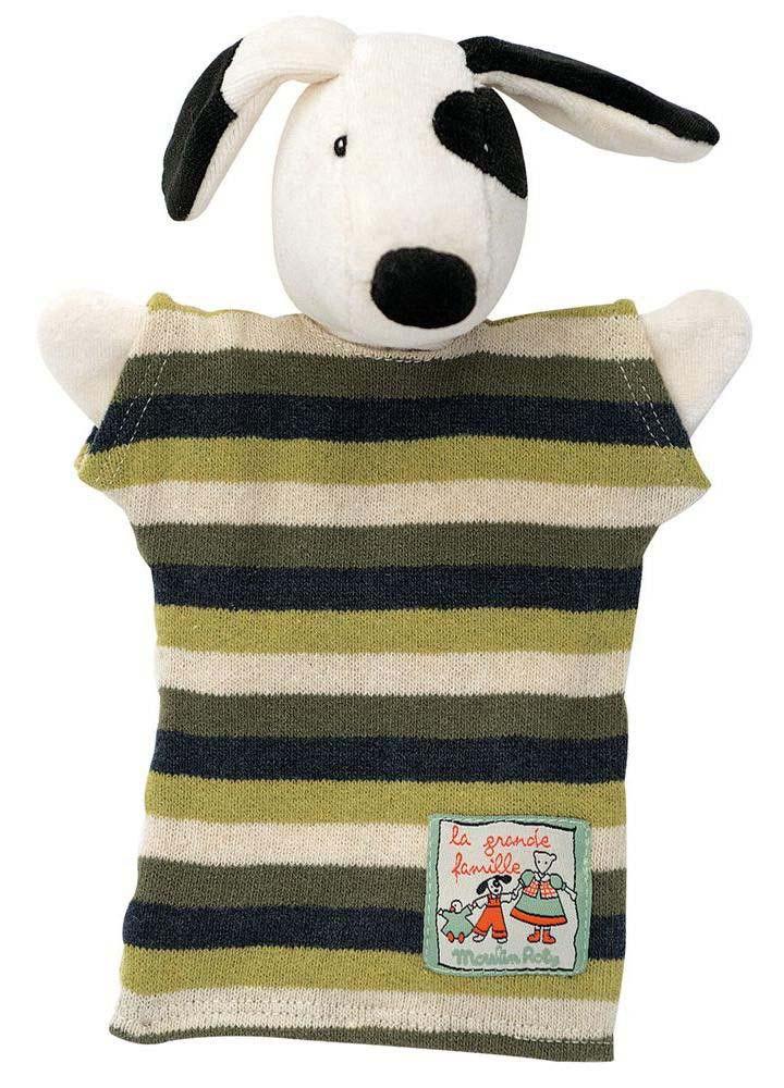 Купить Мягкая игрушка на руку – Пес Юлиус, 25 см, Moulin Roty