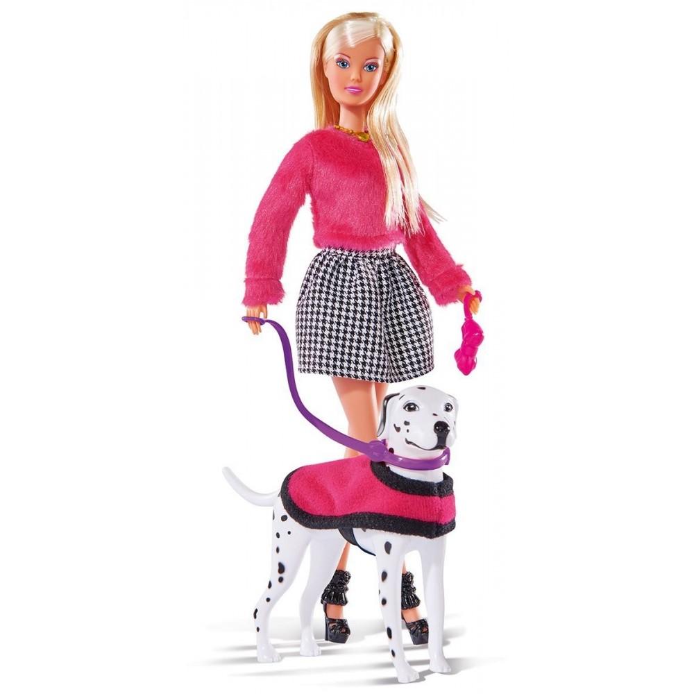 Кукла Штеффи на прогулке с далматинцем, 29 см.Куклы Steffi (Штеффи)<br>Кукла Штеффи на прогулке с далматинцем, 29 см.<br>