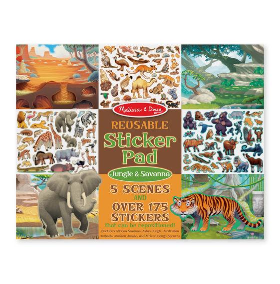 Набор стикеров с фоном из серии Творчество – Джунгли и СаваннаНаклейки<br>Набор стикеров с фоном из серии Творчество – Джунгли и Саванна<br>