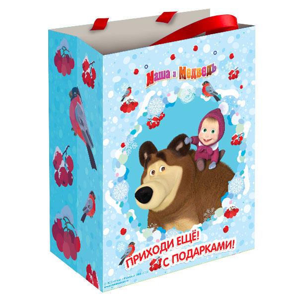 Купить Пакет подарочный - Маша зимой, Росмэн