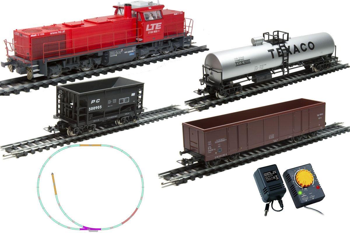 Стартовый набор Mehano Prestige - тепловоз G1206 с 3-мя вагонамиДетская железная дорога<br>Стартовый набор Mehano Prestige - тепловоз G1206 с 3-мя вагонами<br>