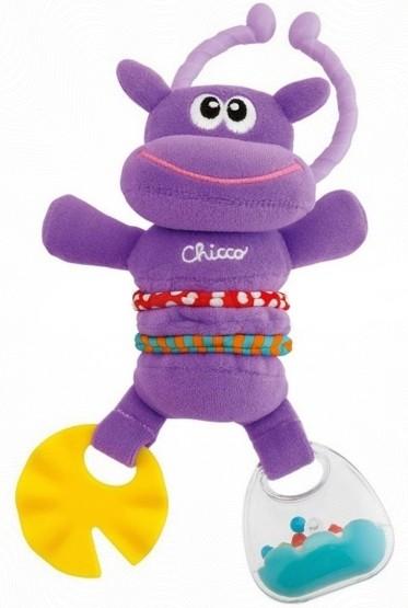 Мягкая погремушка с прорезывателем «Счастливый бегемотик»Детские погремушки и подвесные игрушки на кроватку<br>Мягкая погремушка с прорезывателем «Счастливый бегемотик»<br>