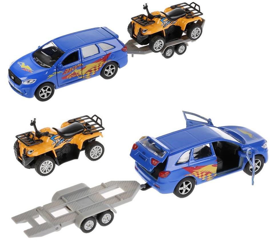 Купить Машина металлическая инерционная Kia Sorento Prime спорт 12 см и квадроцикл 7, 5 см, Технопарк