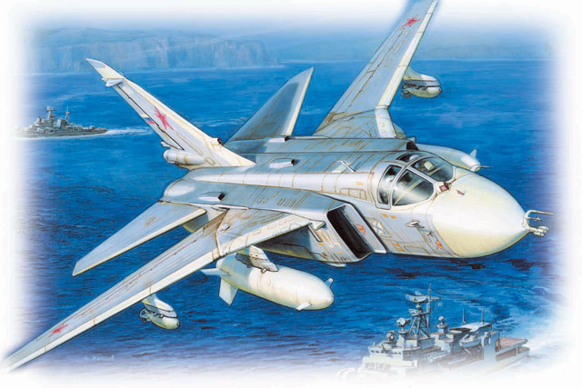 Купить Сборная модель - Самолет Су-24, ZVEZDA