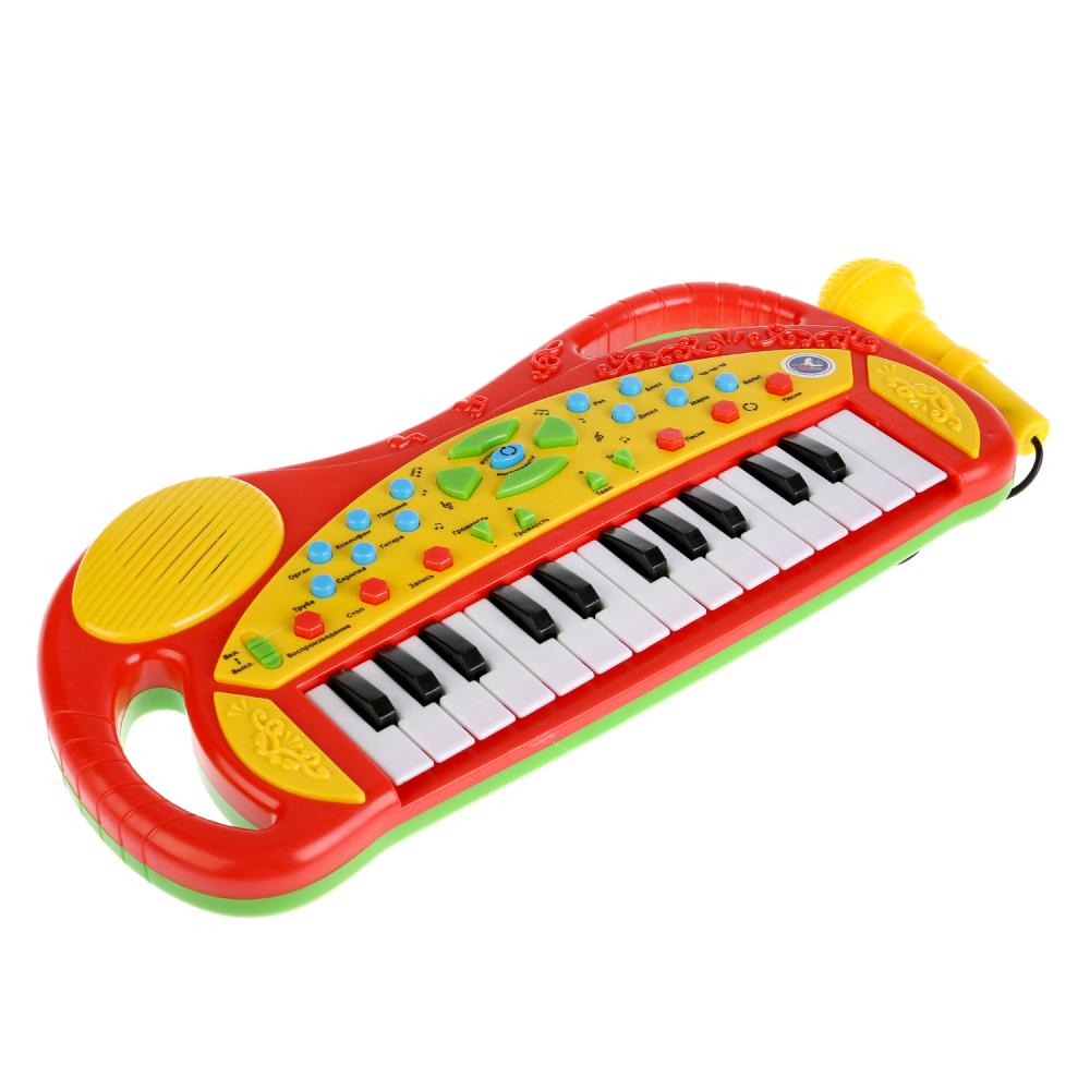 Купить Обучающее пианино с микрофоном, 20 песен и потешек, Умка