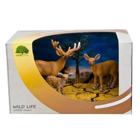 Набор фигурок «Семейство оленей»Дикая природа (Wildlife)<br>Набор фигурок «Семейство оленей»<br>
