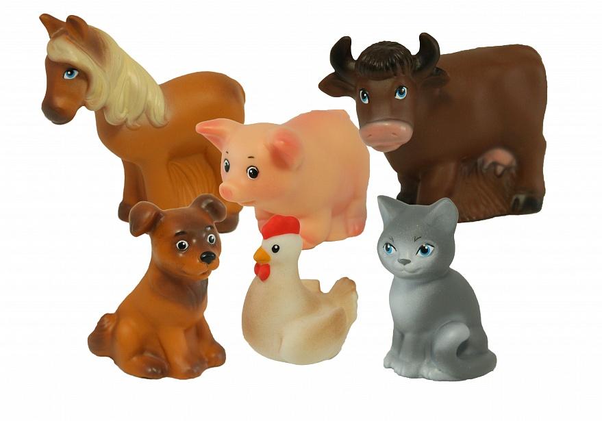 Набор из пластизоля Домашние животныеИгровые наборы Зоопарк, Ферма<br>Набор из пластизоля Домашние животные<br>