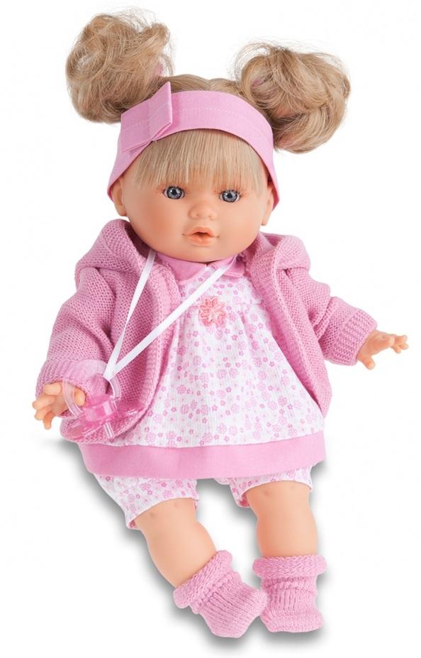Кукла Кристи в розовом, умеет плакать, 30 см.Куклы Антонио Хуан (Antonio Juan Munecas)<br>Кукла Кристи в розовом, умеет плакать, 30 см.<br>