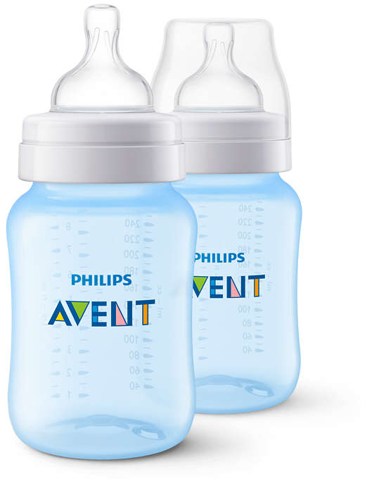 Бутылочки для кормления Серия Classic+, 260 мл, 2 шт., голубыеБутылочки<br>Бутылочки для кормления Серия Classic+, 260 мл, 2 шт., голубые<br>