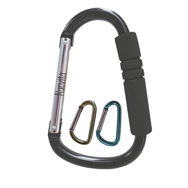 Набор многофункциональных крючков-карабинов для коляски Fattivo multi