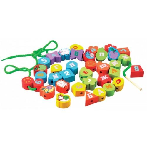 Купить Геометрические бусы-алфавит, Мир деревянных игрушек