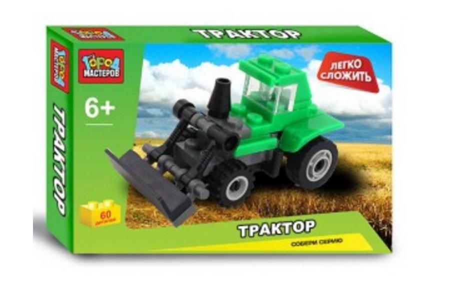 Конструктор – Трактор из серии Легко сложить, 32 деталиГород мастеров<br>Конструктор – Трактор из серии Легко сложить, 32 детали<br>