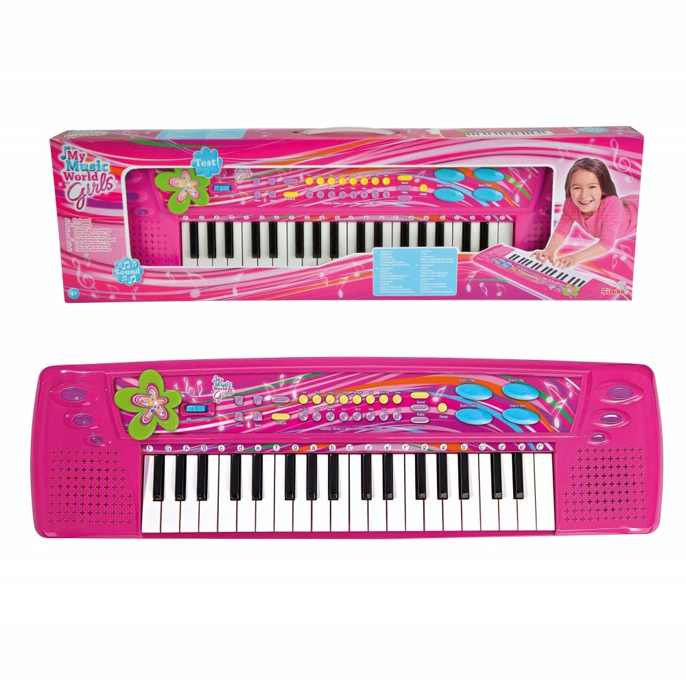 Купить Детский синтезатор, 37 клавиш, свет и звук, Simba