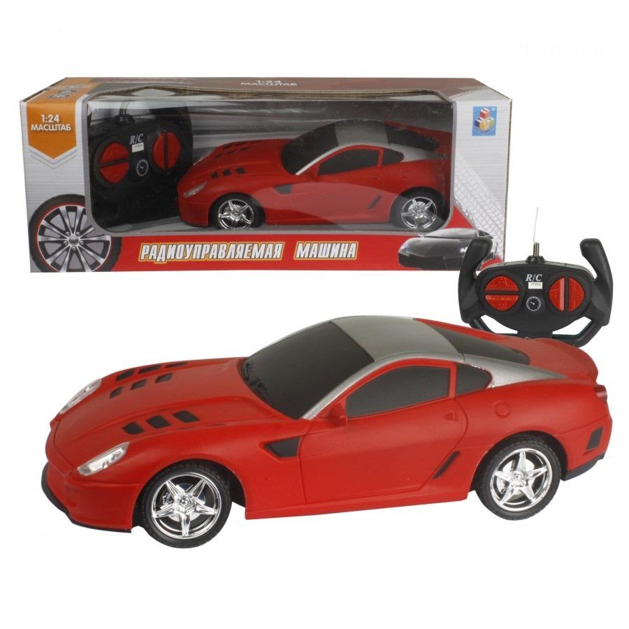 картинка Машина Спортавто на радиоуправлении, масштаб 1:24, 27 МГц, матовый красный от магазина Bebikam.ru