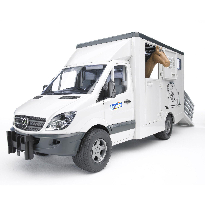 Купить Bruder Mercedes Benz Sprinter с лошадью