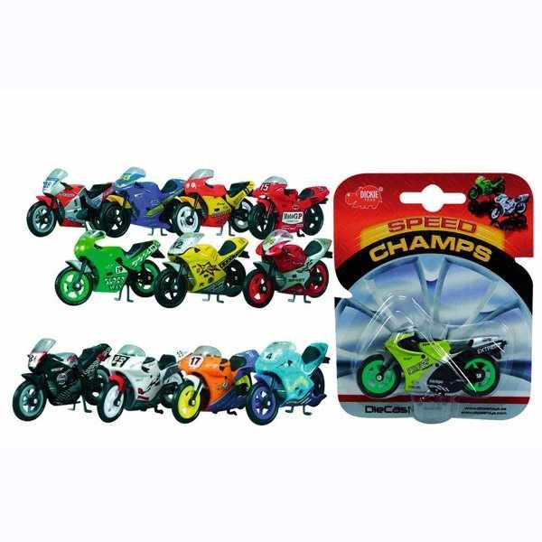 Металлический мотоцикл, 9 см., 24 видаМотоциклы<br>Металлический мотоцикл, 9 см., 24 вида<br>