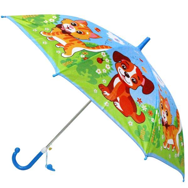 Детский зонт со свистком - Домашние животные, диаметр 45 смДетские зонты<br>Детский зонт со свистком - Домашние животные, диаметр 45 см<br>