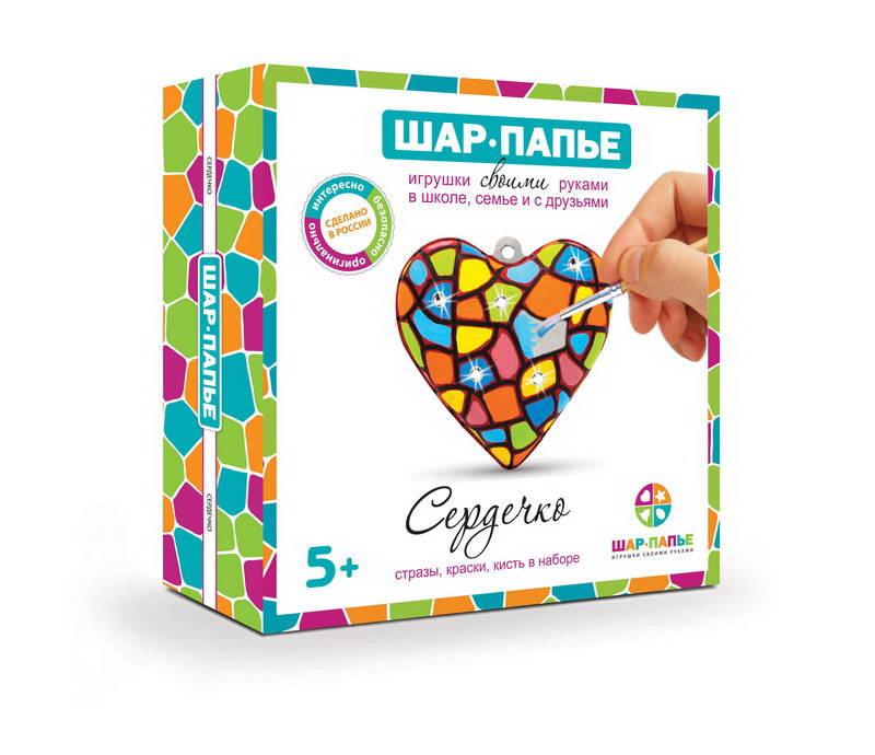 Набор для творчества – Сердце в коробке со стразамиПАПЬЕ-МАШЕ<br>Набор для творчества – Сердце в коробке со стразами<br>