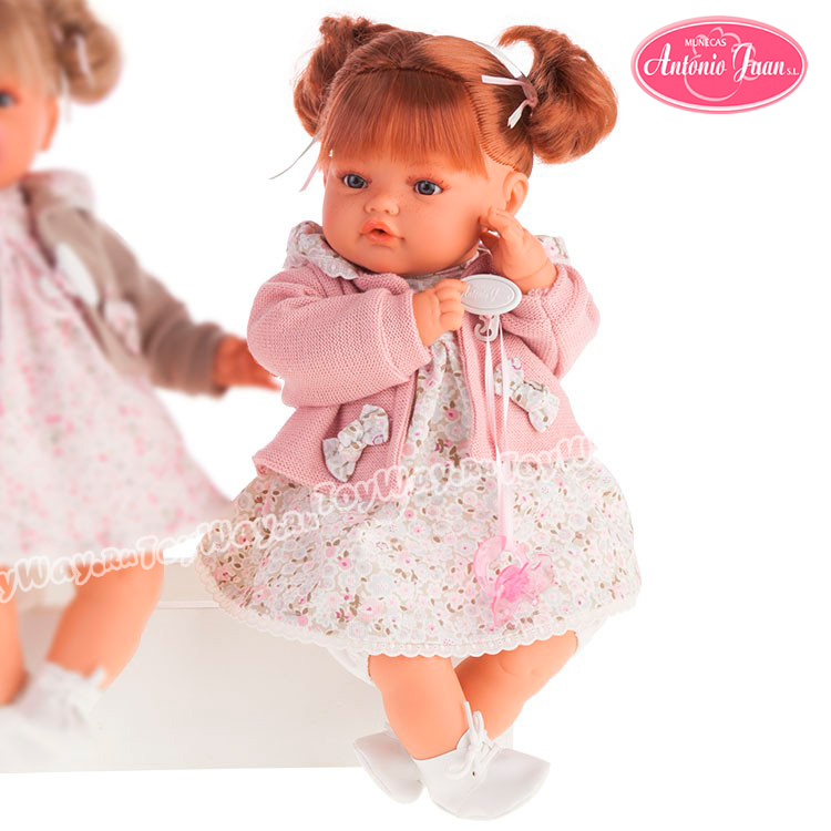 Кукла Каталина в розовом, плачет, 42 см.Куклы Антонио Хуан (Antonio Juan Munecas)<br>Кукла Каталина в розовом, плачет, 42 см.<br>