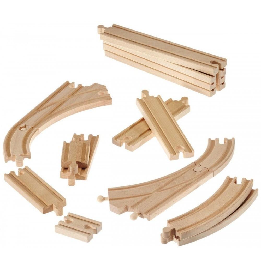 Железнодорожное полотно Brio - Базовые элементы 16 штук.