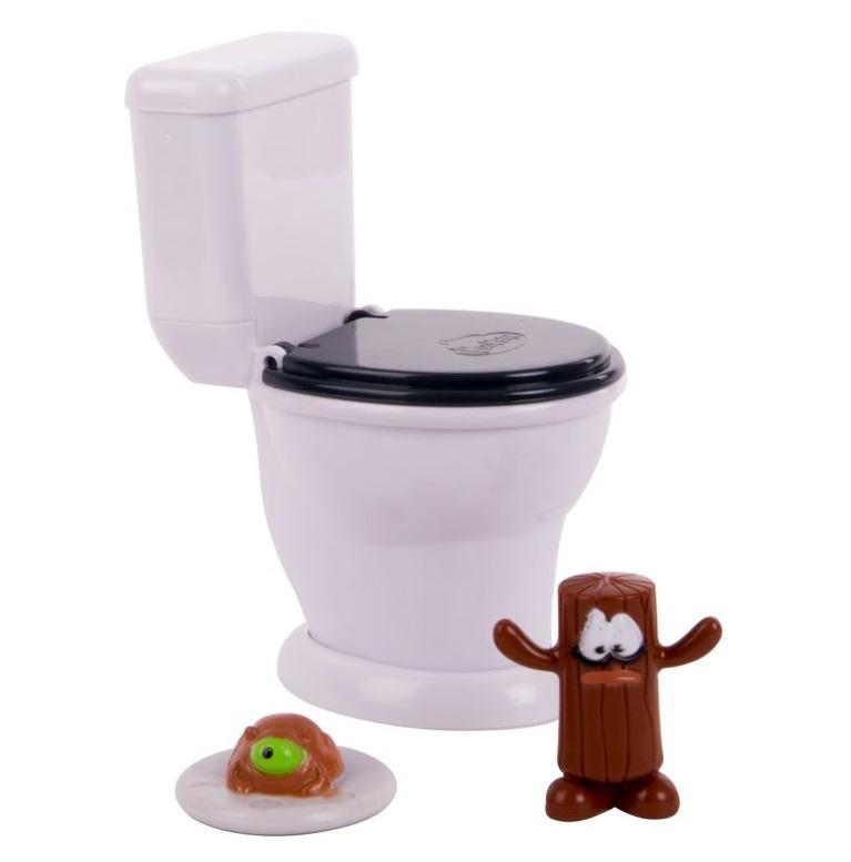 Купить Игровой набор Poopeez – Туалет-лончер с пусковым механизмом и 2 фигурками, Basic Fun