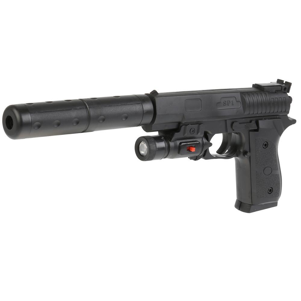 Пистолет с фонариком и пульками