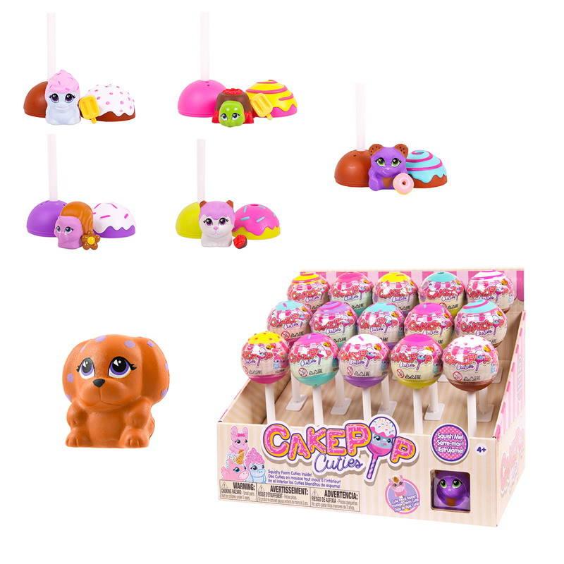 Купить Игрушка в индивидуальной капсуле Cake Pop Cuties, 1 серия, 6 видов, предлагается в дисплее, Basic Fun