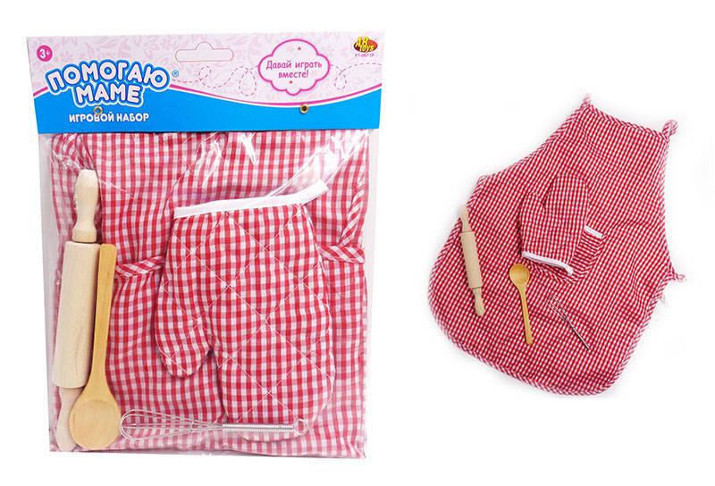 Игровой набор Помогаю маме – Кулинар, 5 предметовАксессуары и техника для детской кухни<br>Игровой набор Помогаю маме – Кулинар, 5 предметов<br>