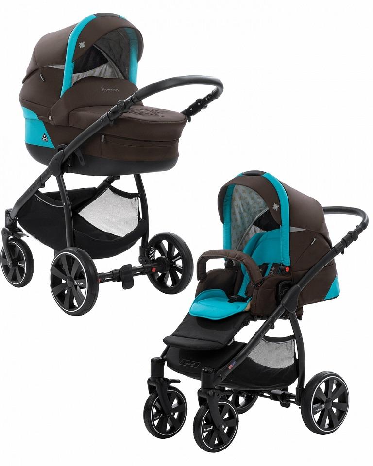 Купить Коляска детская Noordi Polaris 2/1 SP, черно-голубая