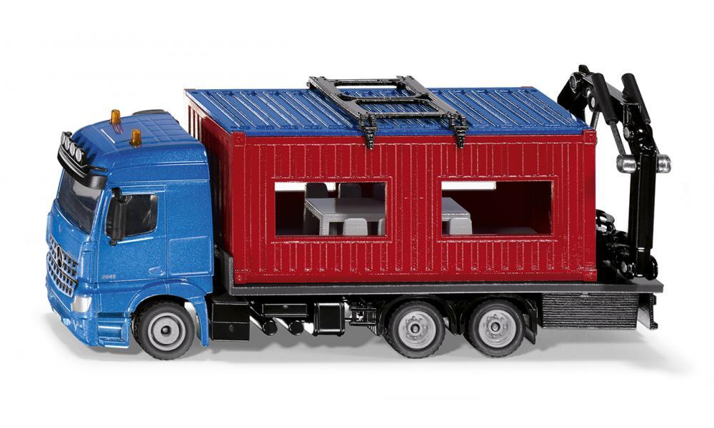 Купить Модель грузовика Mercedes-Benz Arocs со строительным контейнером, Siku