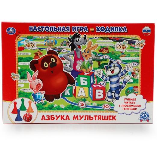 Купить Настольная игра-ходилка - Азбука мультяшек, Умка
